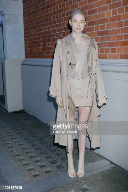 Hunter Schafer attends the Burberry Autumn/Winter 2020 show during London Fashion Week on February 17 2020 in London England