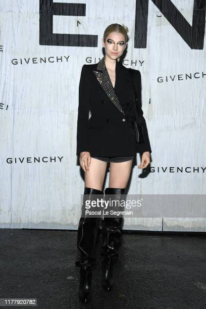 Hunter Schafer attends the Givenchy Womenswear Spring/Summer 2020 show as part of Paris Fashion Week on September 29 2019 in Paris France