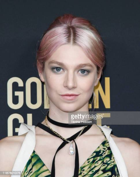 Hunter Schafer attends the HFPA and THR Golden Globe Ambassador Party at Catch LA on November 14 2019 in West Hollywood California