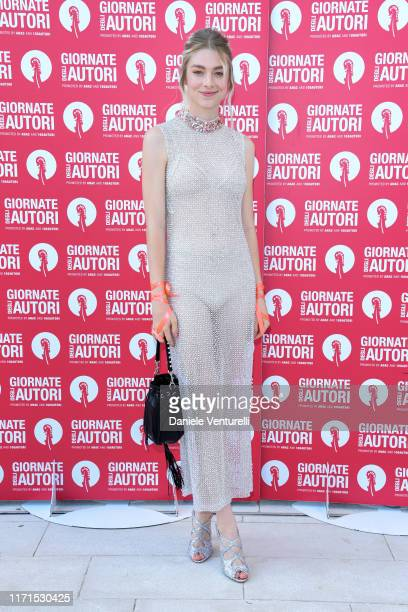 Hunter Schafer attends the MiuMiu photocall during the 76th Venice Film Festival at Sala Volpi on September 01 2019 in Venice Italy