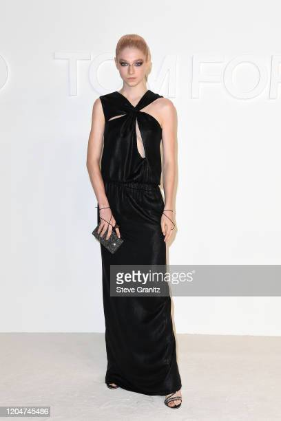 Hunter Schafer attends the Tom Ford AW20 Show at Milk Studios on February 07 2020 in Hollywood California