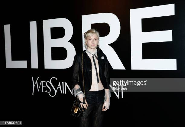 Hunter Schafer attends the YSL Beauty LIBRE Launch on September 09 2019 in New York City