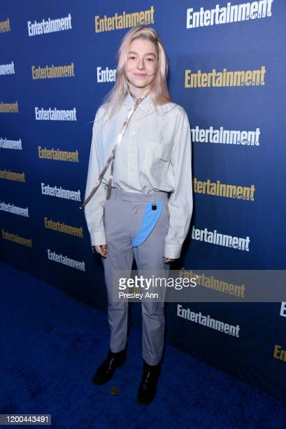 Hunter Schafer is seen as Entertainment Weekly Celebrates Screen Actors Guild Award Nominees at Chateau Marmont on January 18 2020 in Los Angeles...