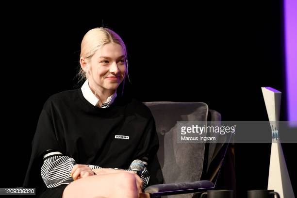 Hunter Schafer speaks onstage at the SCAD aTVfest 2020 In Conversation With Hunter Schafer And Discovery Award Actress Presentation on February 28...