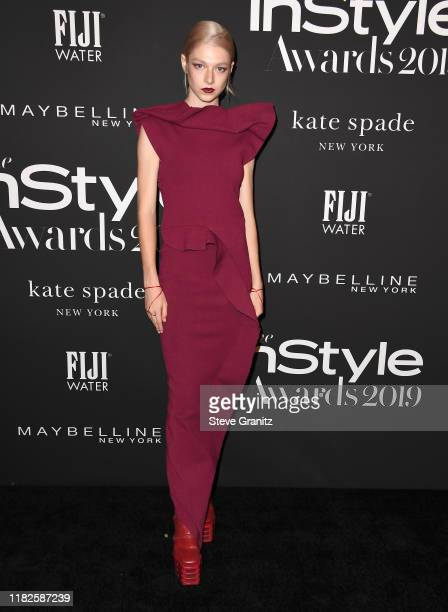 Hunter Schafer Varrives at the 2019 InStyle Awards at The Getty Center on October 21 2019 in Los Angeles California