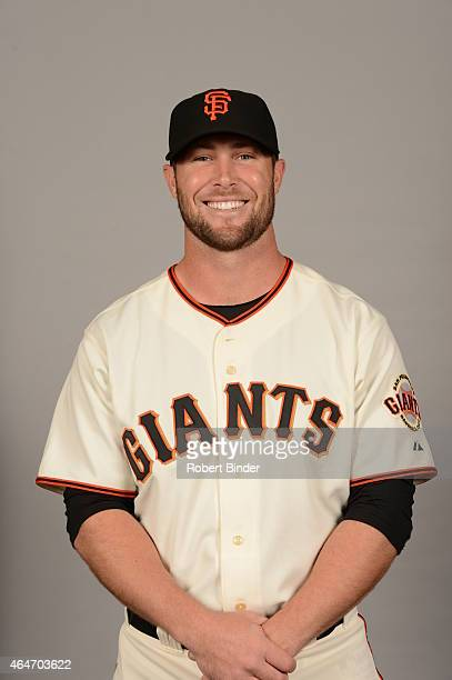 Hunter Strickland of the San Francisco Giants poses during Photo Day on Friday February 27 2015 at Scottsdale Stadium in Scottsdale Arizona
