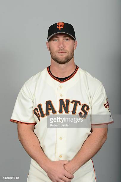 Hunter Strickland of the San Francisco Giants poses during Photo Day on Sunday February 28 2016 at Scottsdale Stadium in Scottsdale Arizona