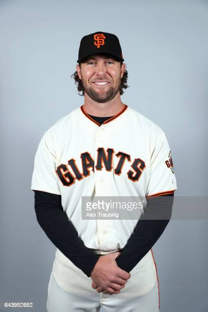 Hunter Strickland of the San Francisco Giants poses during Photo Day on Monday February 20 2017 at Scottsdale Stadium in Scottsdale Arizona