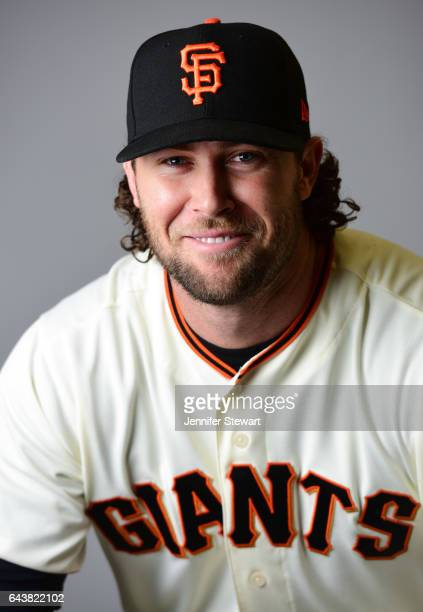 Hunter Strickland of the San Francisco Giants poses for a portrait during a MLB photo day at Scottsdale Stadium on February 20 2017 in Scottsdale...