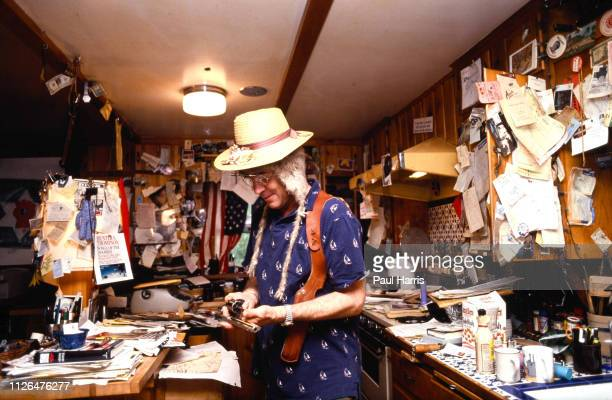Hunter Thompson aka Hunter S Thompson aka Gonzo Journalist at his ranch the home where he killed himself in February 20 2005 in his kitchen which he...