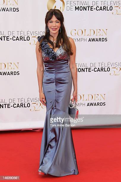 Hunter Tylo arrives at the Golden Nymph Award during the 52nd Monte Carlo TV Festival Closing Ceremony on June 14 2012 in MonteCarlo Monaco