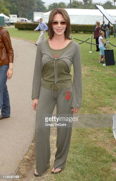 Hunter Tylo during NRDC Day Of Discovery Fair Arrivals at Wadsworth Theater Grounds in Westwood California United States