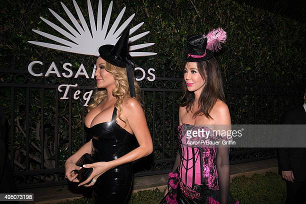 Hunter Tylo is seen celebrating Halloween in Beverly Hills on October 30 2015 in Los Angeles California