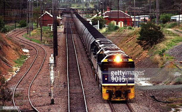 A Hunter Valley coal train passes through Branxton on route to Newcastle 10 December 1996 SMH Picture by PETER MORRIS