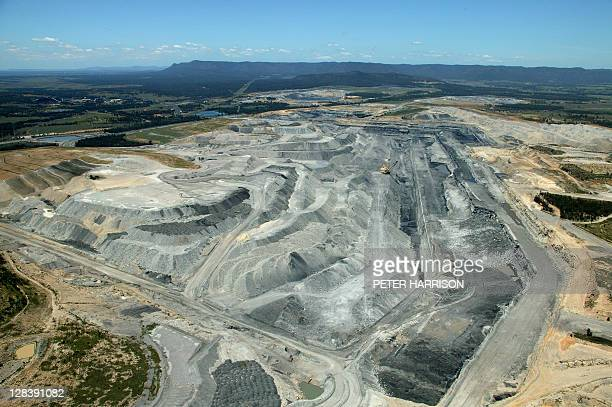 Hunter Valley open cut coal mine, NSW, Australia