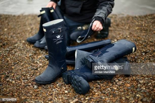 Hunter Wellington's prior to the Boat Race Trial fixture between Oxford University Women's Boat Club and Molesey on March 4 2018 in London England