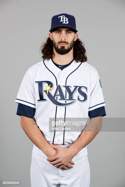 Hunter Wood of the Tampa Bay Rays poses during Photo Day on Sunday February 18 2018 at Charlotte Sports Park in Port Charlotte Florida