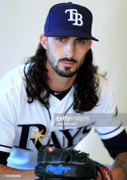 Hunter Wood of the Tampa Bay Rays poses for a portrait during photo day on February 17, 2019 in Port Charlotte, Florida.