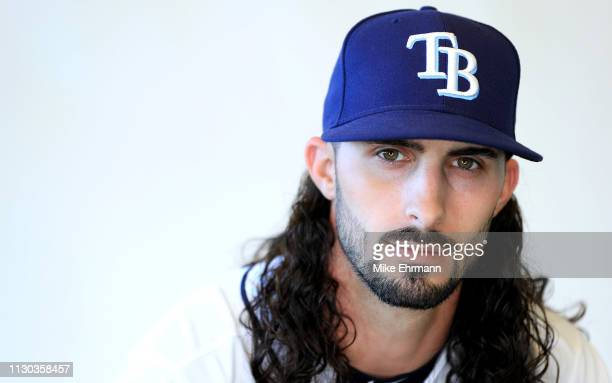 Hunter Wood of the Tampa Bay Rays poses for a portrait during photo day on February 17 2019 in Port Charlotte Florida