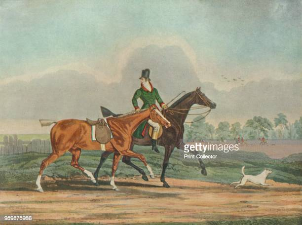 'Hunters at Covertside' early 19th century After Samuel Alken From The Story of British Sporting Prints by Captain Frank Siltzer [Halton Truscott...