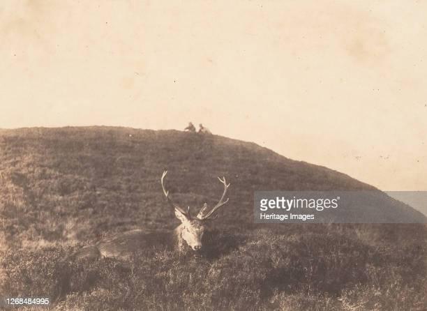 Hunters Stalking a Deer circa 1857 Artist Horatio Ross