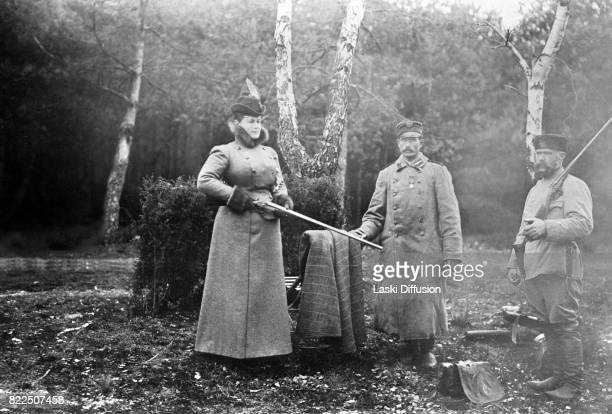 A hunting expedition of Tsar Nicholas II Romanov in the Bialowieza Forest Russian Empire 1897