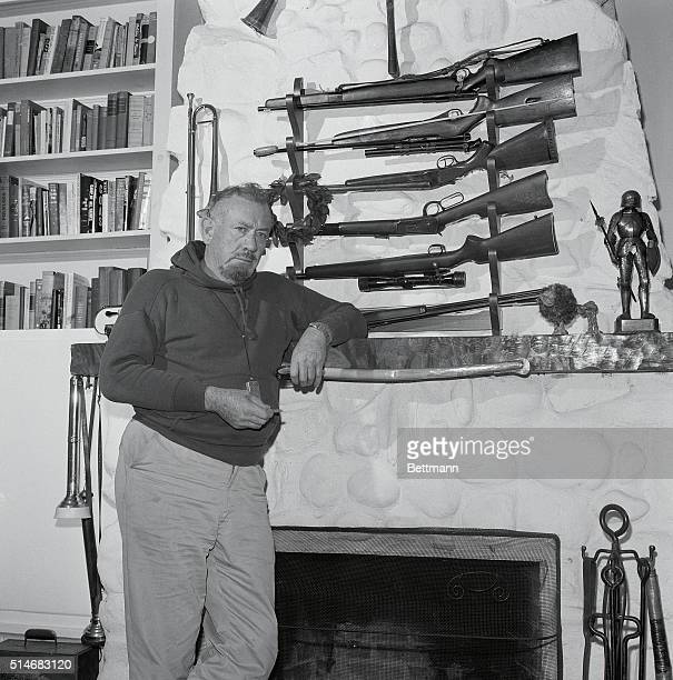 Hunting horns, rifles and pistols adorn the huge Steinbeck fireplace. The Steinbecks close the cottage and hibernate in their East Side Manhattan...