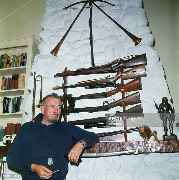 Hunting horns rifles and pistols adorn the huge Steinbeck fireplace The Steinbecks close the cottage and hibernate in their East Side Manhattan...