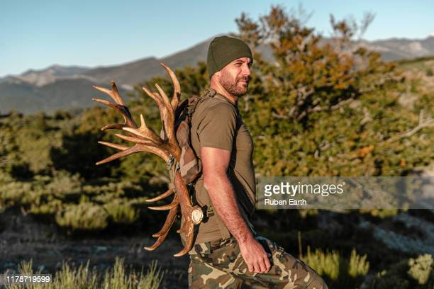 hunting in the mountains - hunting stock pictures, royalty-free photos & images
