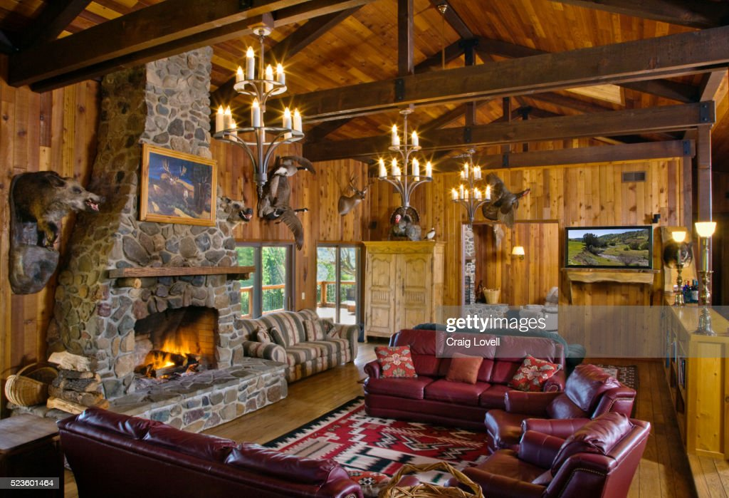 Hunting Cabin Interior Do It Yourself Hunting Cabins: Hunting Lodge Interior Stock Photo
