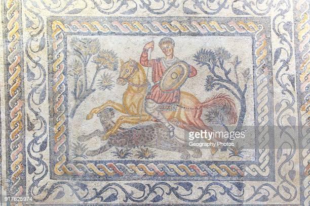 Hunting mosaic Museo Nacional de Arte Romano national museum of Roman art Merida Extremadura Spain