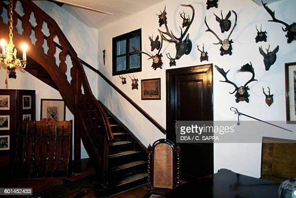 Hunting room Cesky Sternberk castle Czech Republic 13th17th century