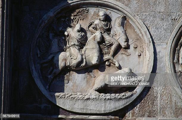 Hunting scene medallion Arch of Constantine 315 AD Rome Italy Roman civilisation 4th century AD