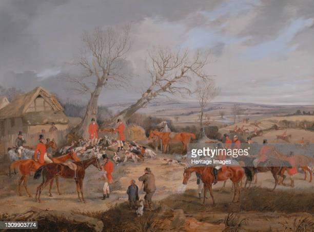 The Kill;The Belvoir Hunt: The Death, ca. 1840. Artist Henry Thomas Alken. .