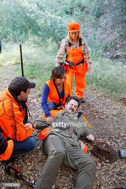 RECREATION Hunting Trip Episode 210 Air Date Pictured Paul Schneider as Mark Brendanawicz Rashida Jones as Ann Perkins Amy Poehler as Leslie Knope...