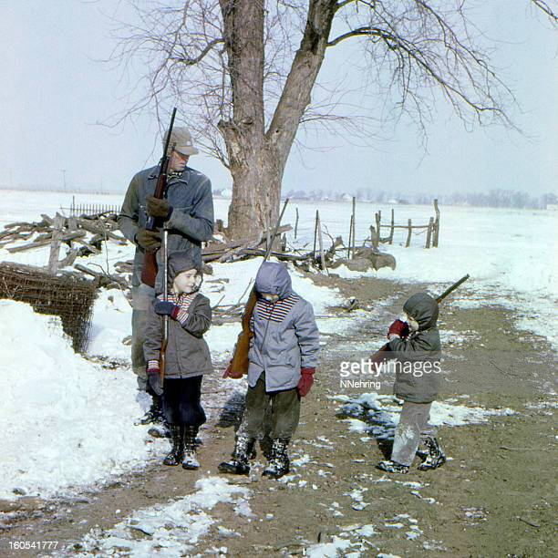 hunting with grandad 1959 - 1950 1959 stock pictures, royalty-free photos & images