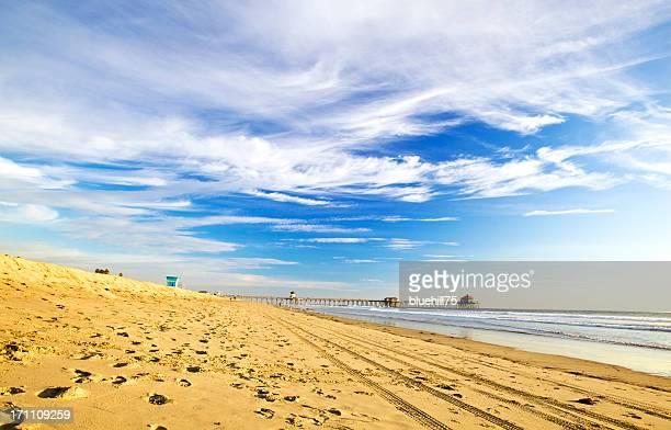 Praia Huntington à luz do dia