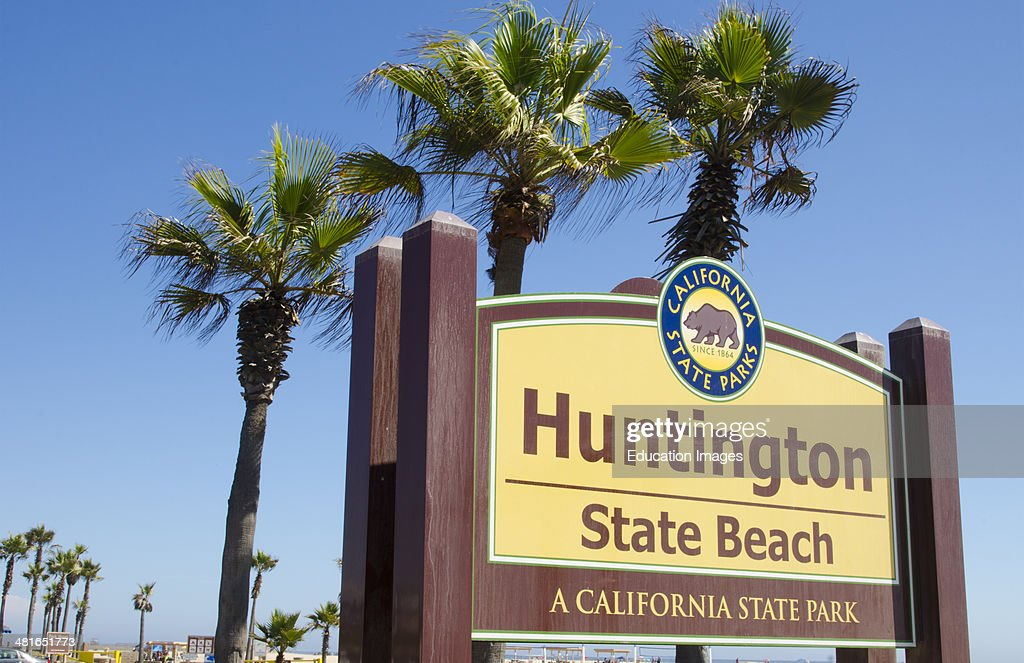 Huntington Beach California Ca Sign At State Park