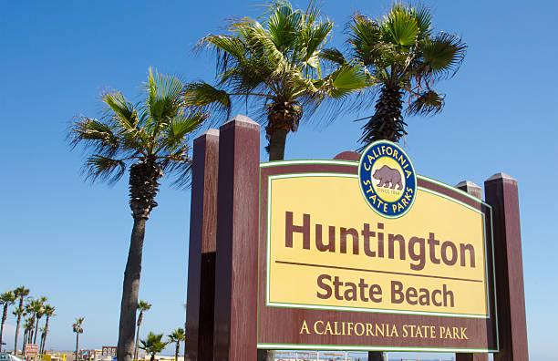 Huntington Beach California Ca Sign At State Park