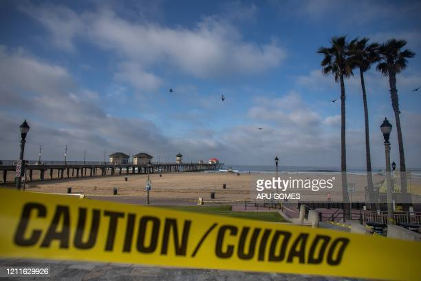 Huntington Beach California is virtually empty on May 02 2020 Orange County beaches will remain closed after a California Superior Court judge...
