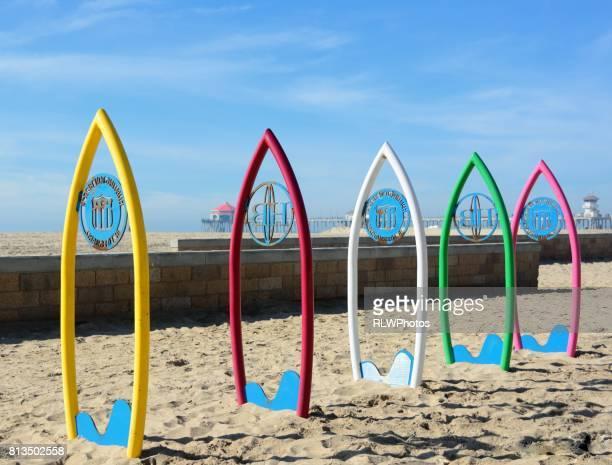 huntington beach, california pier - huntington beach stock pictures, royalty-free photos & images