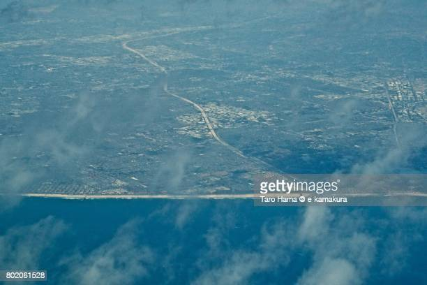 huntington beach in california daytime aerial view from airplane - utc−10:00 stock pictures, royalty-free photos & images