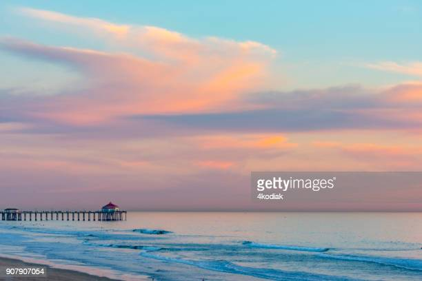 huntington beach in california - huntington beach stock pictures, royalty-free photos & images