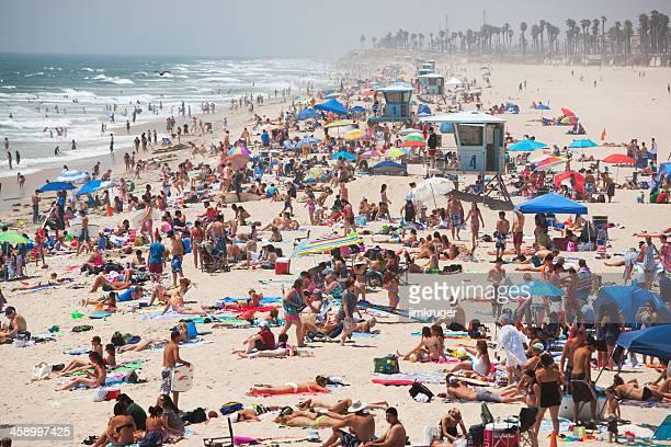 Huntington beach auf Sommer-Wochenende Tag.