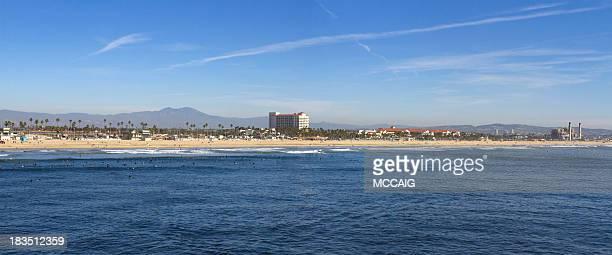 Praia Huntington panorâmica