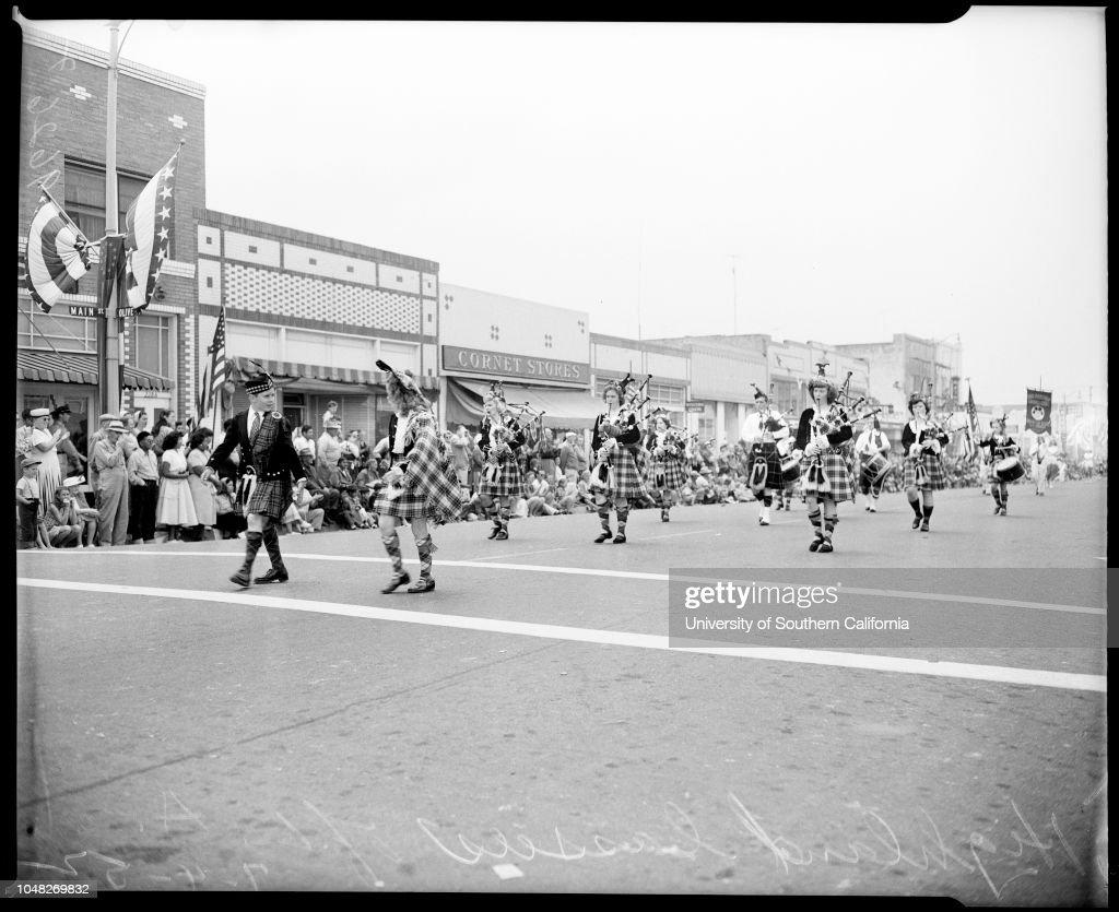 Huntington Beach Parade 4 July 1952 Long Beach Lancerettesostrich