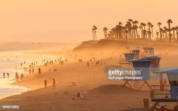 huntington beach summer - huntington beach stock pictures, royalty-free photos & images