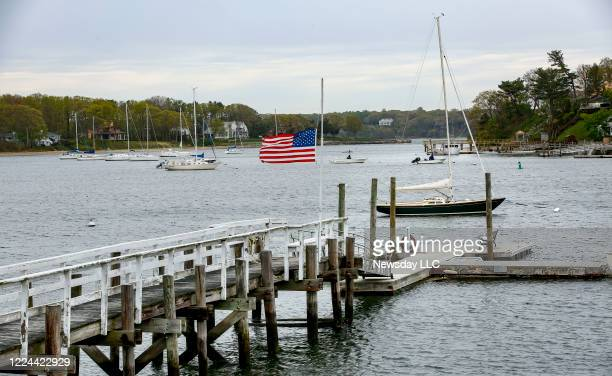 Huntington Harbor is seen from West Shore Road in Huntington, New York on May 6, 2020. The Town of Huntington is being paid $30,000 to cover the cost...