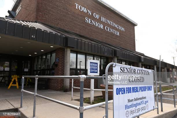 The exterior of the Huntington senior center in Huntington New York on March 31 2020 The center will be used for overflow beds from Huntington...