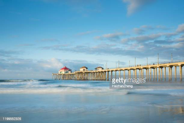 huntington pier - huntington beach stock pictures, royalty-free photos & images